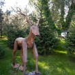 Wooden deer statue — Stock Photo #59299077