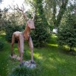 Wooden deer statue — Stock Photo #59299083