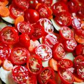 Sliced tomatoes for cooking.  — Stock Photo