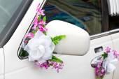 Elegancki samochód na wesela — Zdjęcie stockowe