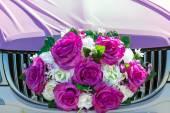 The elegant car for a wedding celebration — Stock Photo