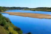 Landscape with river and sky in summer. — Foto de Stock