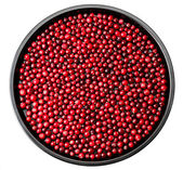Cowberry isolated on a metal tray — Stock fotografie