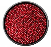 Cowberry isolated on a metal tray — Foto de Stock