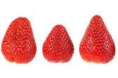 Ripe strawberry fruit on a white background. isolated — Stock Photo