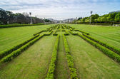 Lisbon viewed from Eduardo VII Park — Stock Photo
