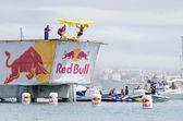 Sesame Street Boys team at the Red Bull Flugtag — Stock Photo