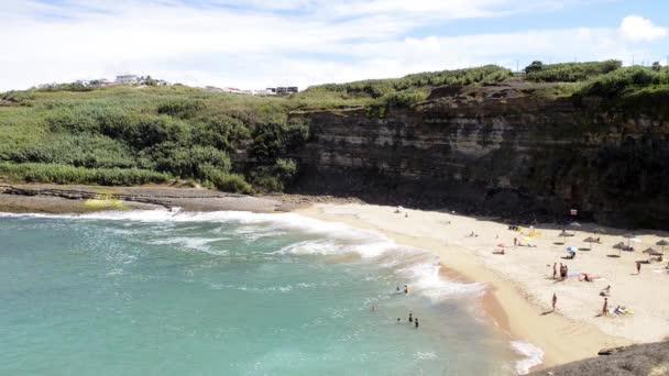 Coxos plage à ericeira, portugal — Vidéo