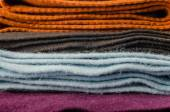 Pile of colorful scarves — Stock Photo