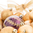 Golden christmas balls — Stock Photo #58025335