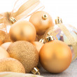 Golden christmas balls — Stock Photo #58118619