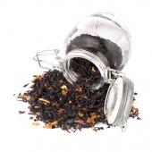 Tea in a glass jar — Stock Photo