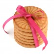 Festive wrapped rings biscuits — Stock Photo #63722947