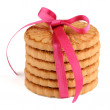Festive wrapped rings biscuits — Stock Photo #65039641