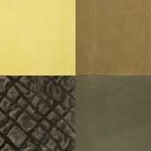 Set di campioni di cuoio verde — Foto Stock