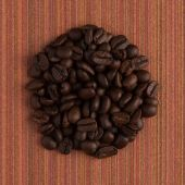 Circle of coffee — Stock Photo
