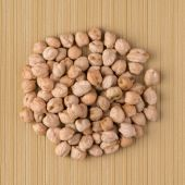 Circle of chickpeas — Stock Photo