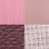 Set of pink fabric samples — Stock Photo