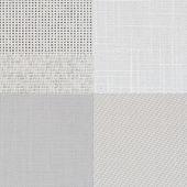 Set of white vinyl samples — Stock Photo