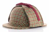 British Deerhunter or Sherlock Holmes cap — Stock Photo