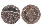 Twenty Pence coin — Stock Photo