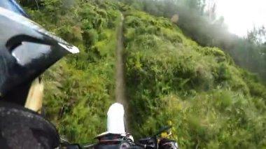 Enduro bike rider POV — Stock Video
