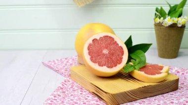 Ripe grapefruit — Stock Video