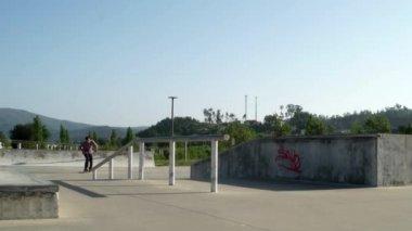 Skateboarder performing a slide — Video Stock