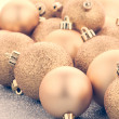 Golden christmas balls — Stock Photo #78747464