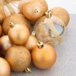 Golden christmas balls — Stock Photo #81421456