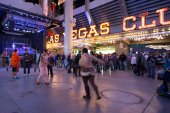 Fremont Street Vegas — Stock Photo