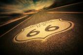 Route 66 Sign Vintage — Stock Photo