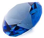 Sapphire gemstone isolated on white background — Stock Photo