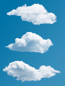 Set of isolated picturesque clouds — Stockfoto