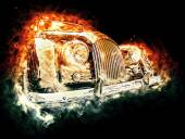 Hot vintage car — Stock Photo