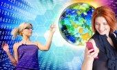 Internet innovative education.Network — Stock Photo