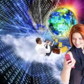 E-mail.Internet.Electronic message — Stock Photo