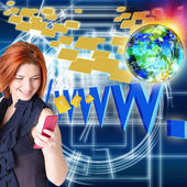 Internet Education.E-mail message — Stock Photo