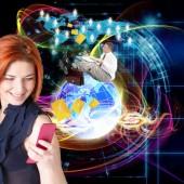 New Technology E-mail.Internet.E-business — Stock Photo
