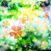 Floral abstract pattern — Stock Photo