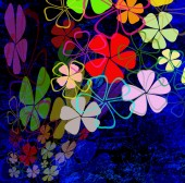 Flowers abstract background — Stock Photo