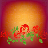 Abstract east background with roses.Vector — Stock Vector