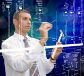 Industrial engineering technology.Engineer — Stock Photo