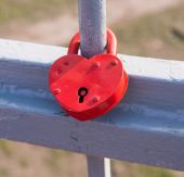 Love symbol.Happy Wedding Lock — Stock Photo