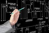 Industrial engineering designing — Stock Photo