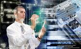 Generation computer technology — Stock Photo