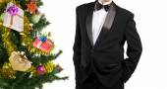 Tuxedo.Holiday Рождество — Стоковое фото