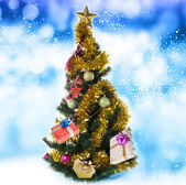 Christmas Eve tree with Gifts.New Year — Stock Photo
