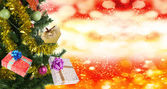 Holidays New Year Tree.MerryChristmas — Stock Photo