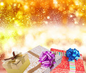 Gifts.Merry Christmas — Stock Photo